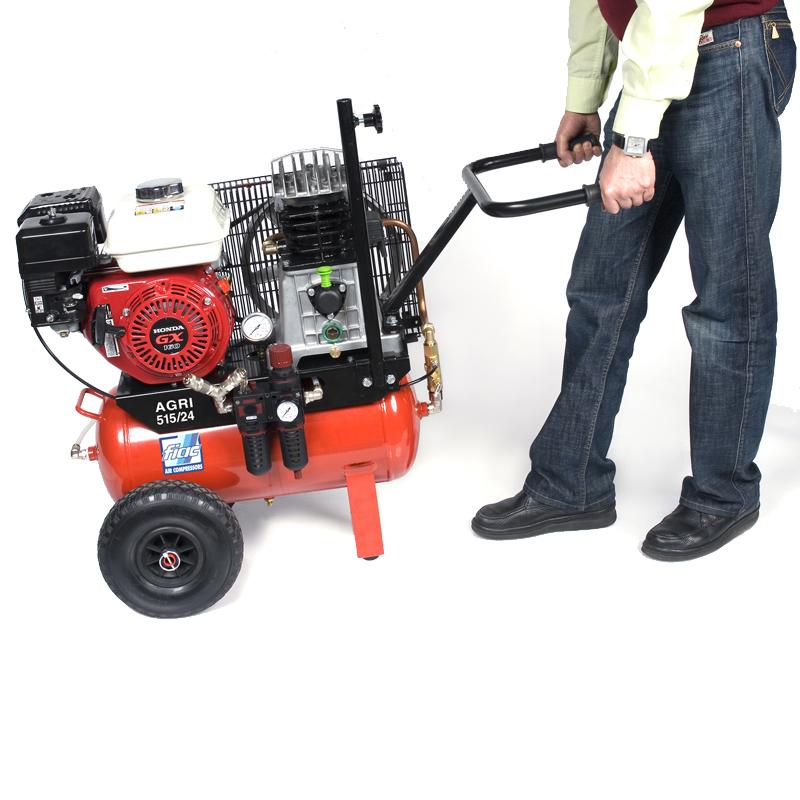 Compresor cu piston profesional, motor HONDA, tip Agri 24/515