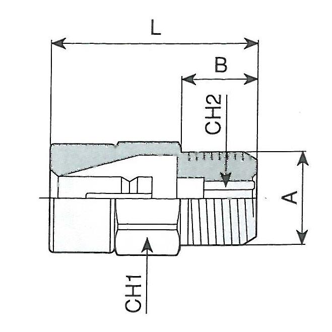 Racord automatic pentru furtun RILSAN, tip 650/6