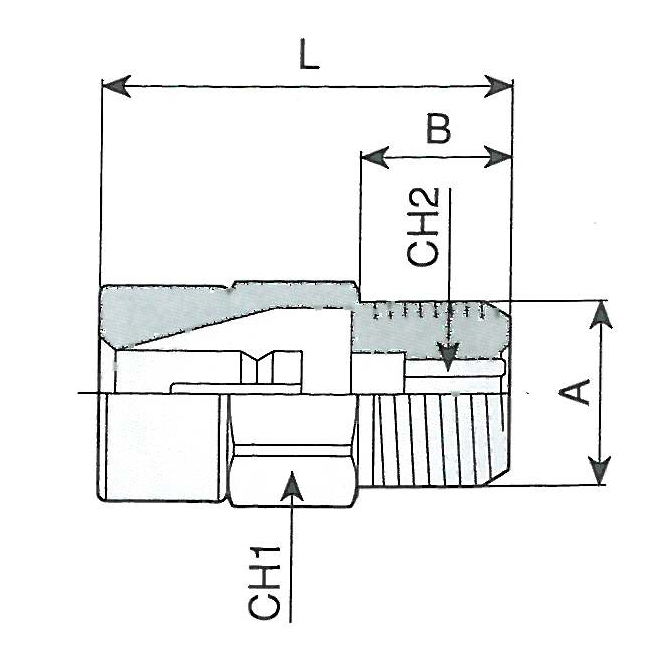 Racord automatic pentru furtun RILSAN, tip 650/4
