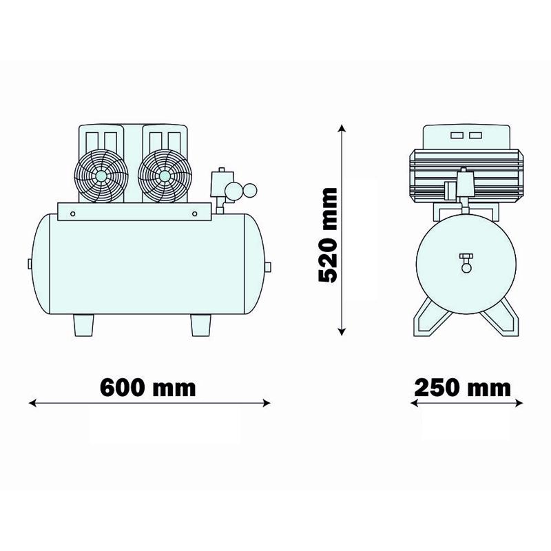 Compresor medical FIAC, tip AIRMED 270/24