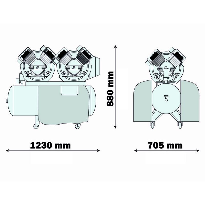 Compresor medical cu uscator AIR-TECH 500 ES