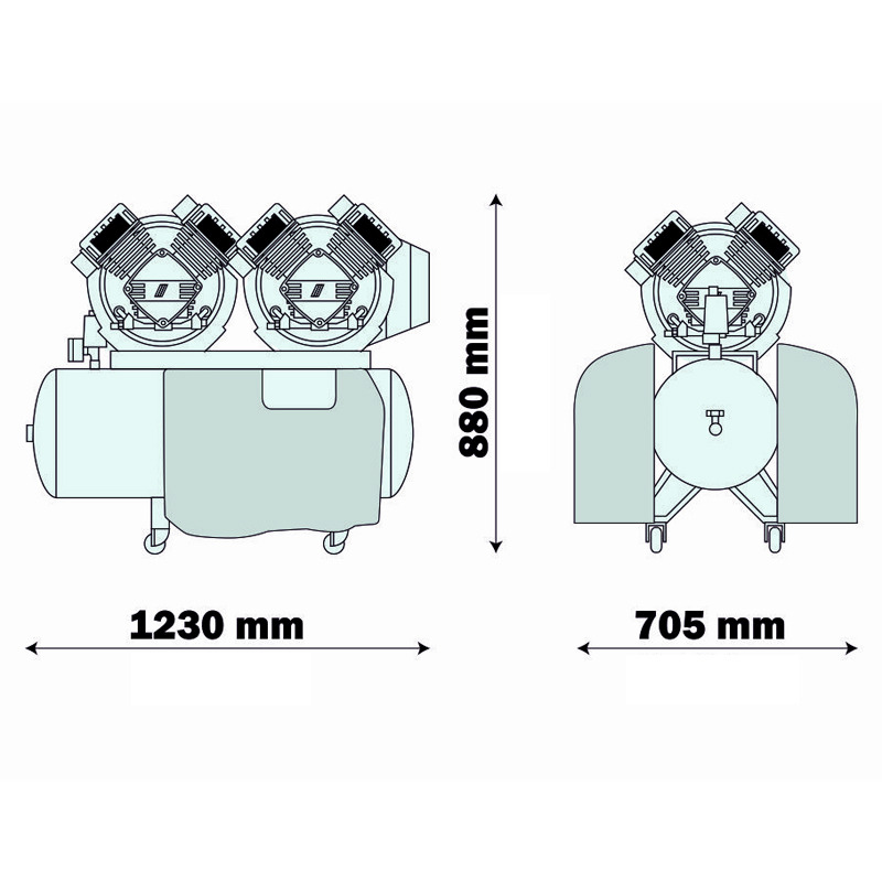 Compresor medical AIR-TECH 400 EM