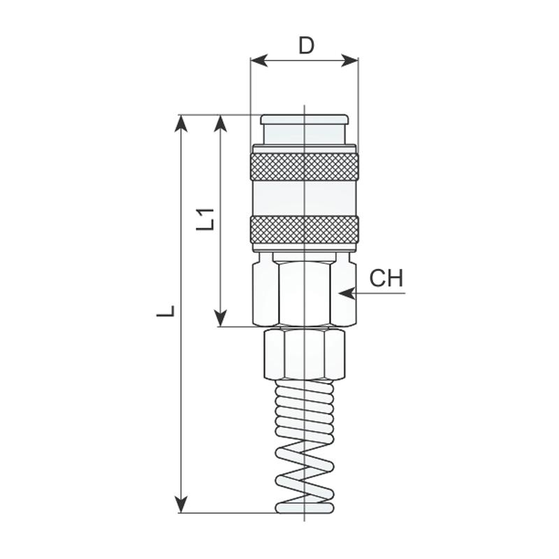 Cupla rapida pentru furtun RILSAN, 8x6mm, tip 457/1