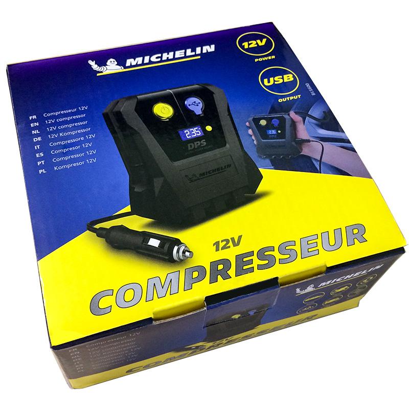 Compresor auto 12V, MICHELIN, manometru digital, priza USB