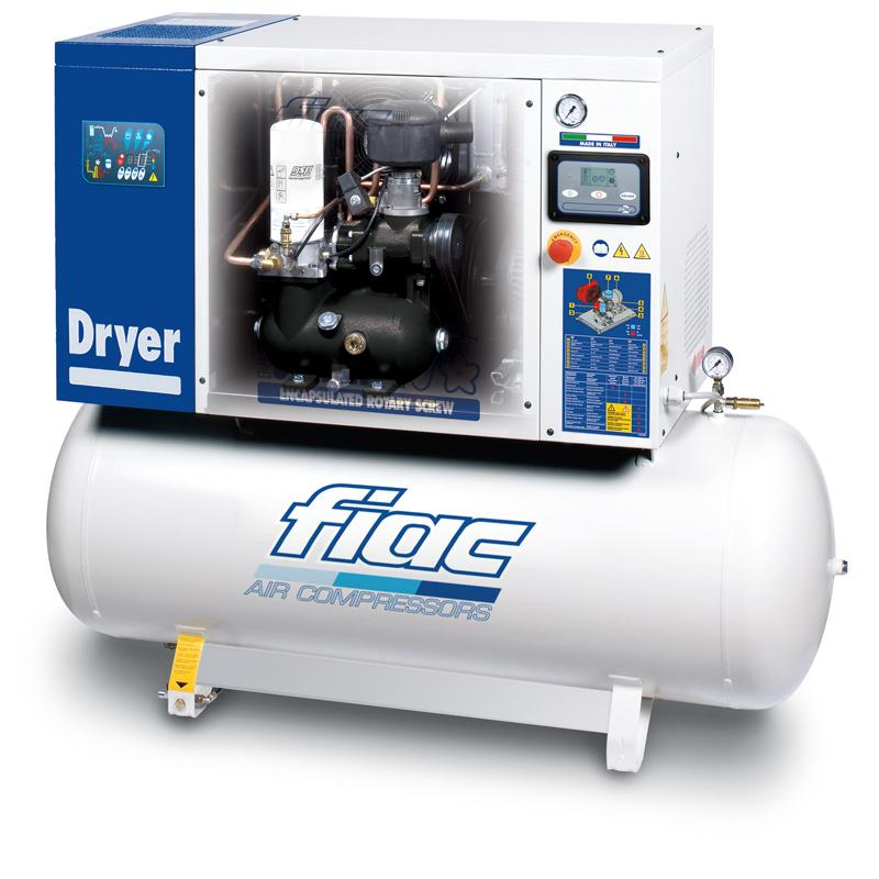 Compresor cu surub si uscator tip NEW SILVER D 5,5/200, 10 bar