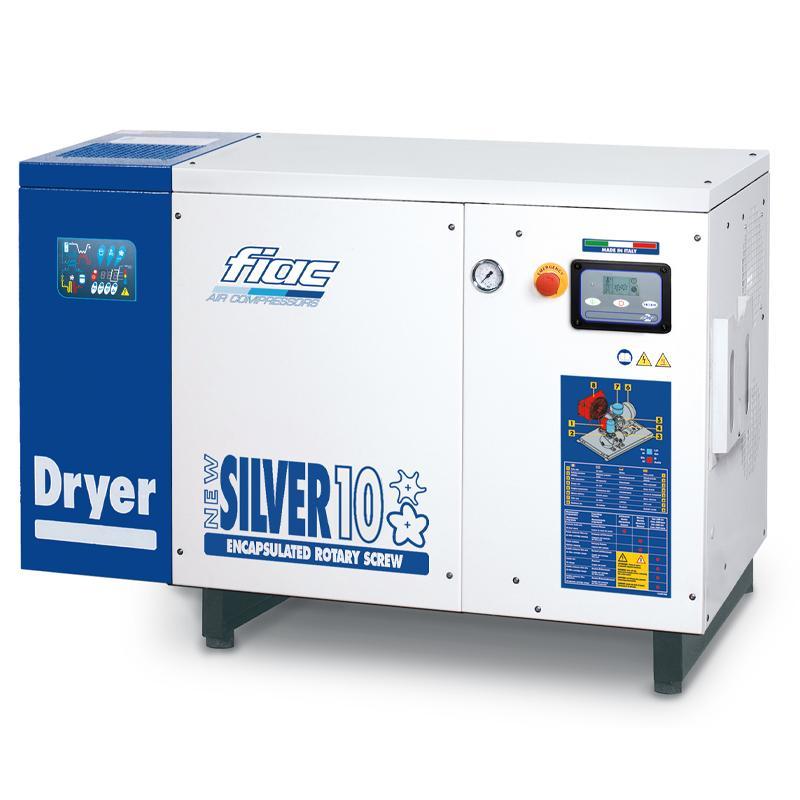 Compresor cu surub cu uscator tip NEW SILVER+D 10s, 10 bar