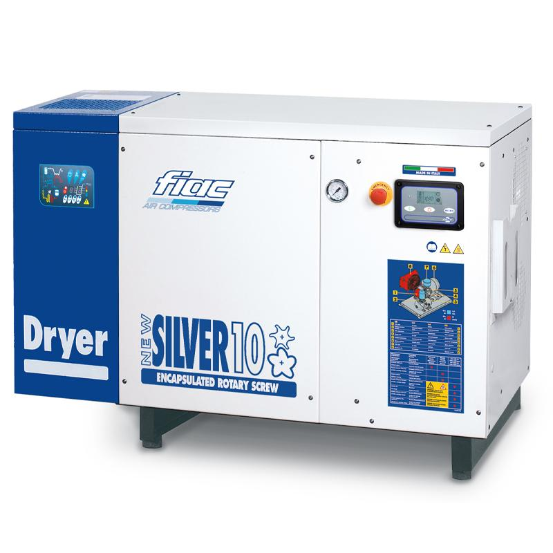 Compresor cu surub cu uscator tip NEW SILVER+D 10s, 8 bar