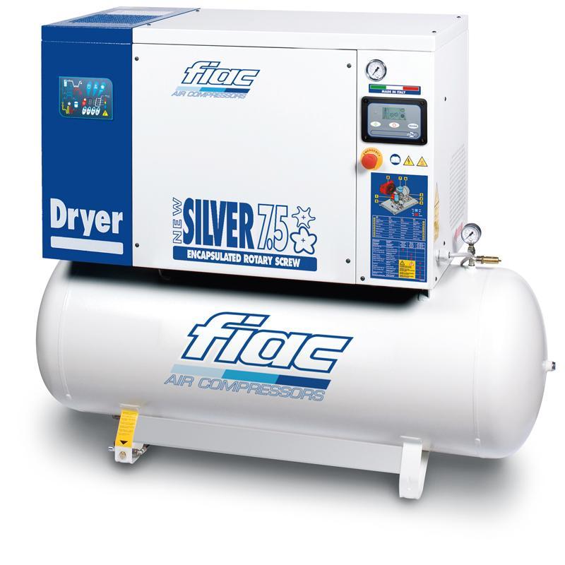 Compresor cu surub si uscator tip NEW SILVER D 7,5/300, 13 bar