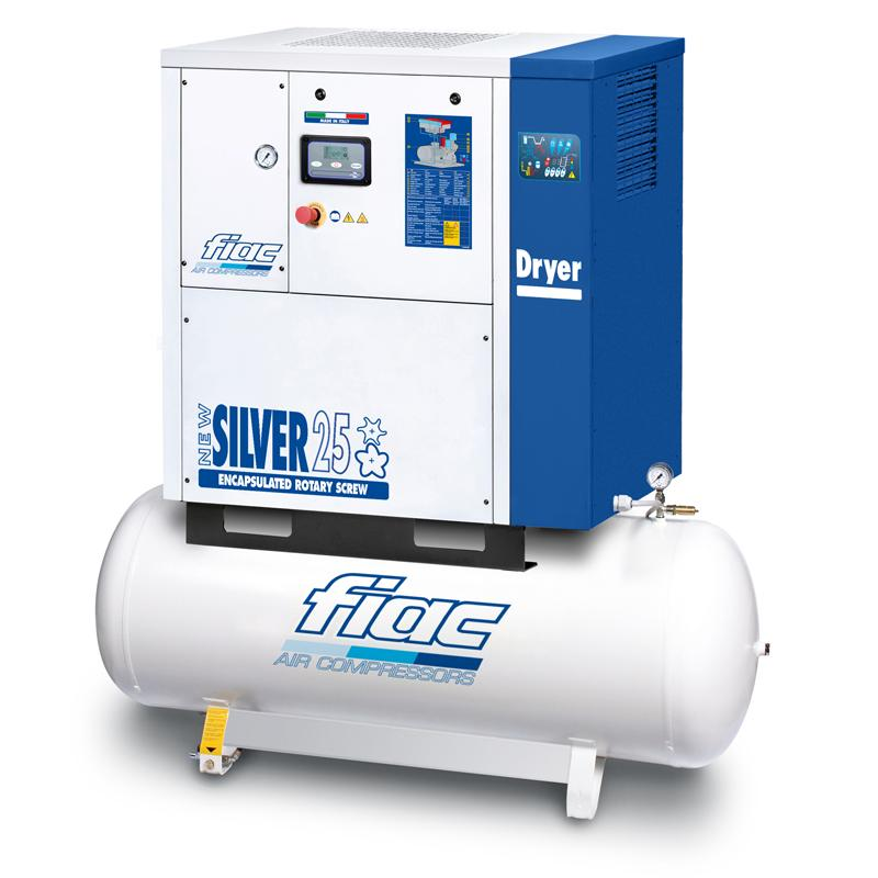 Compresor cu surub si uscator tip NEW SILVER D 25/500, 8 bar