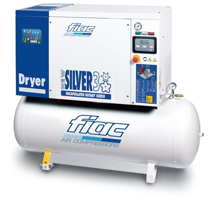 Compresor cu surub si uscator tip NEW SILVER D 3/200, 10 bar