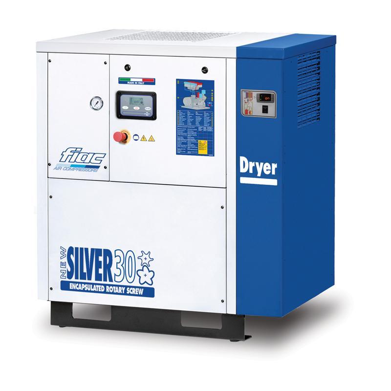 Compresor cu surub cu uscator tip NEW SILVER+D 30, 10 bar