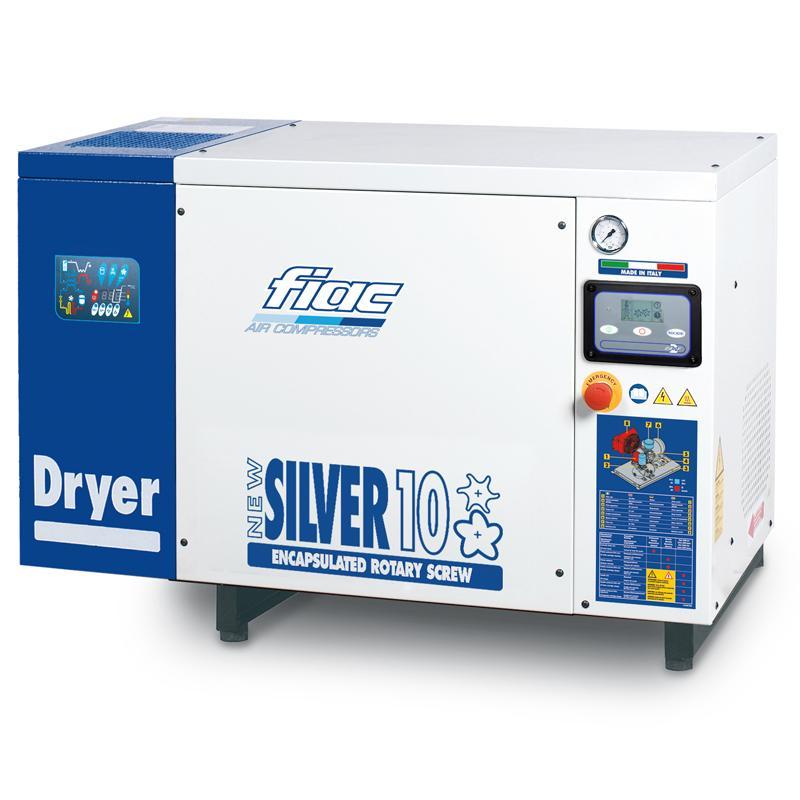 Compresor cu surub cu uscator tip NEW SILVER+D 10, 10 bar