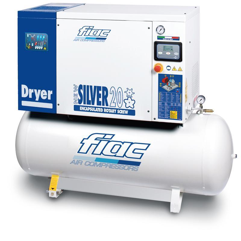 Compresor cu surub si uscator tip NEW SILVER D 20/500, 10 bar