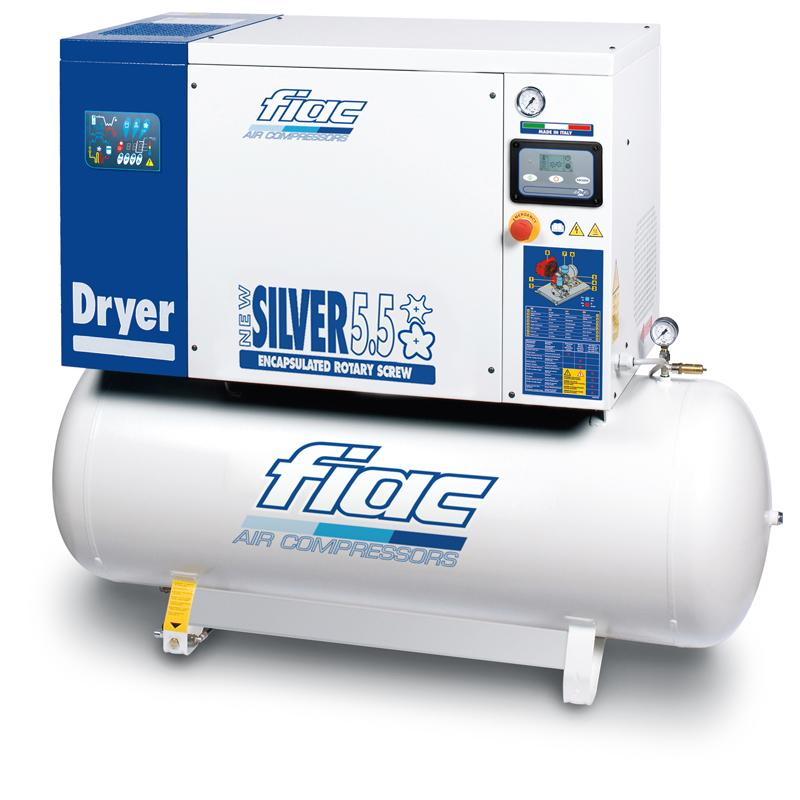 Compresor cu surub si uscator tip NEW SILVER D 5.5/200, 10 bar