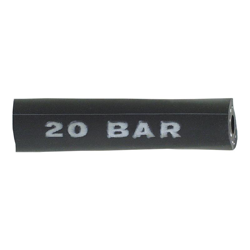 Furtun PVC flexibil cu insertie negru 8x17 mm, tip 1130/2