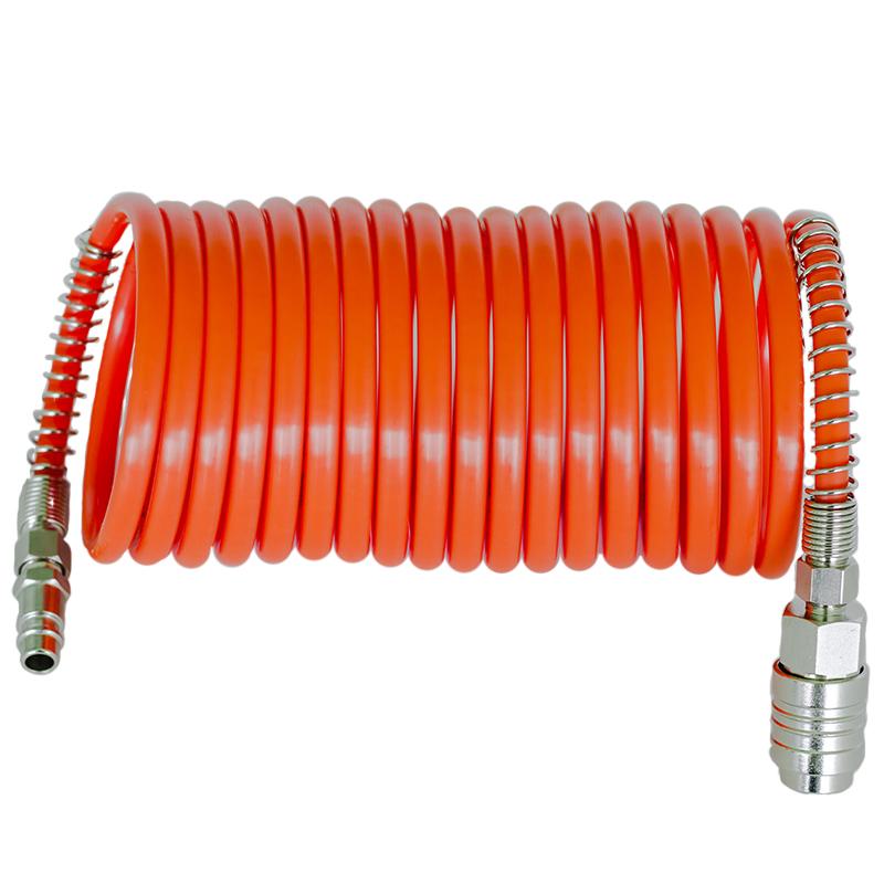 Furtun de aer spiralat 5m, cuple rapide FIAC 1140/20/U