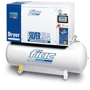 Compresor cu surub si uscator tip NEW SILVER D 7,5/500, 13 bar